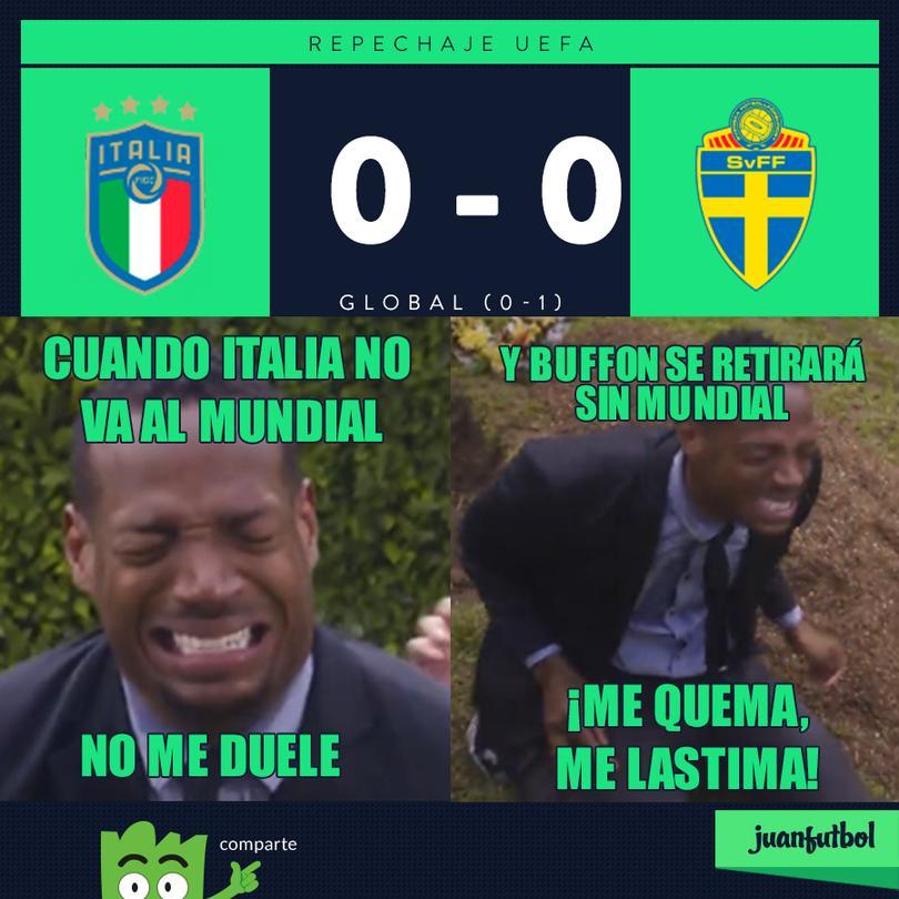 Italia queda fuera del Mundial