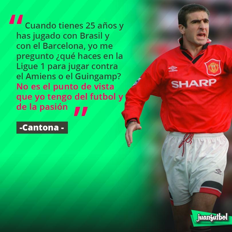 Cantona habló así de Neymar.