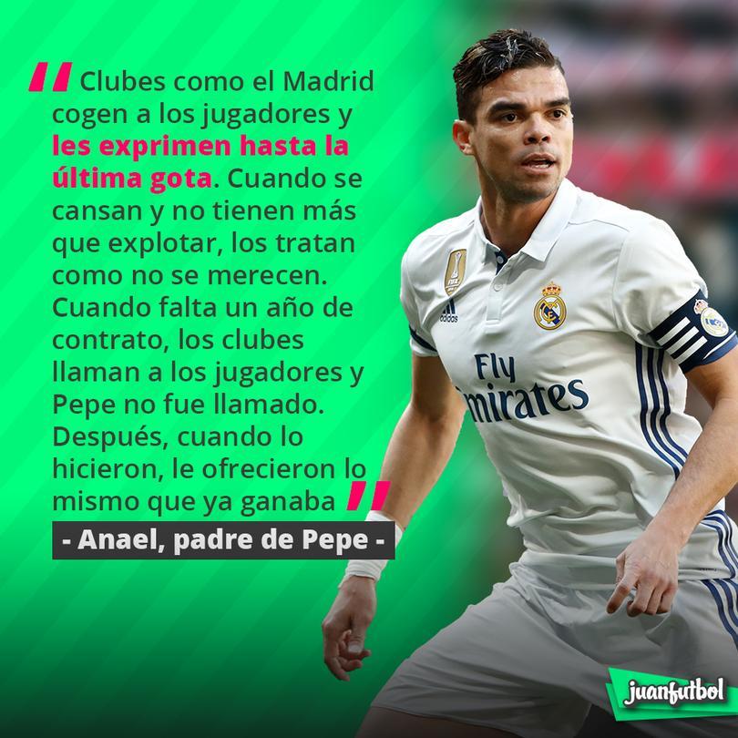 El papá de Pepe se queja del trato del Madrid