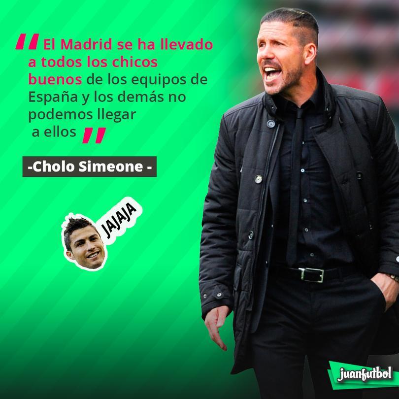 Cholo habla sobre el Madrid