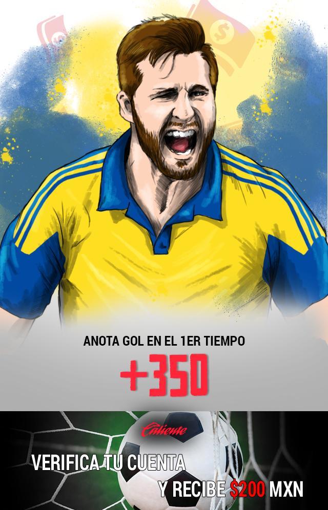 Si crees que en el Clásico Regio Gignac anota gol en el primer tiempo, apuesta en Caliente y llévate mucho dinero.