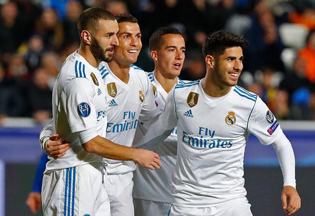 Real Madrid goleó al Apoel 6-0