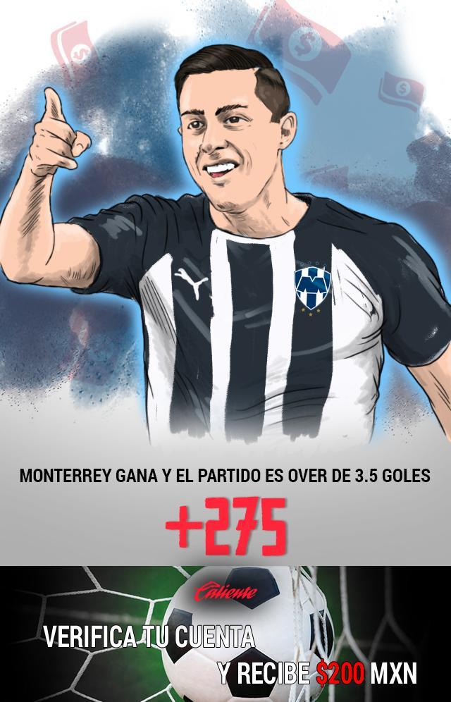Si crees que en el partido Monterrey vs Atlas habrá 4 ó más goles, apuesta en Caliente y llévate mucho dinero.