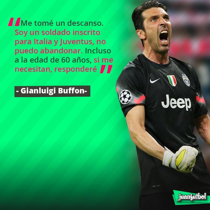 Buffon quiere seguir jugando para Italia y Juventus