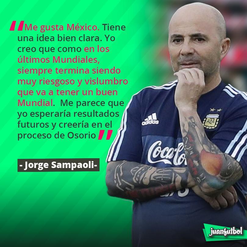Sampaoli cree que México tendrá un buen mundial
