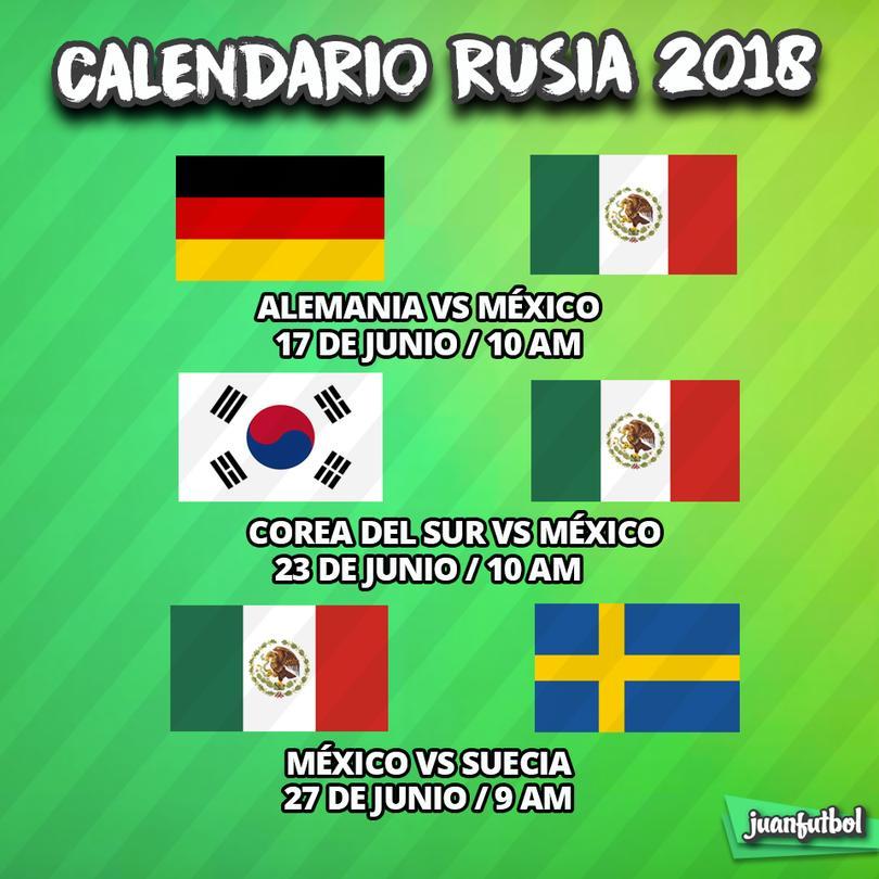 México ya tiene listo el calendario para el Mundial