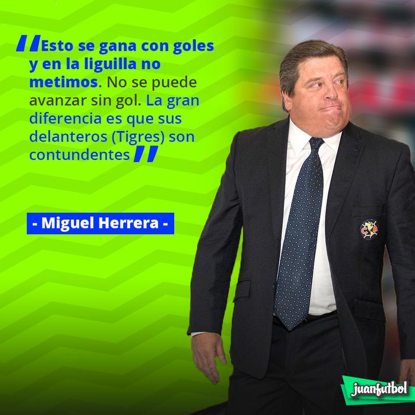 Las palabras de Miguel Herrera tras la semifinal de Liga MX
