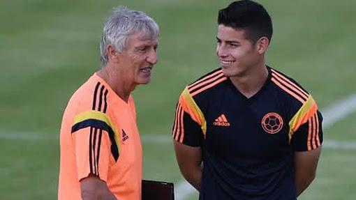 Pekerman junto a James Rodríguez