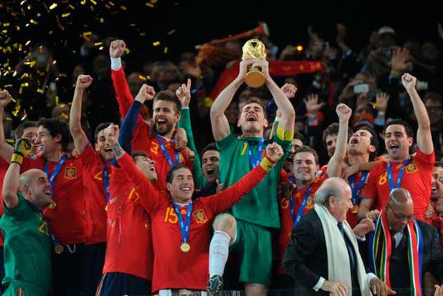 España en Sudáfrica 2010 como campeón del mundo