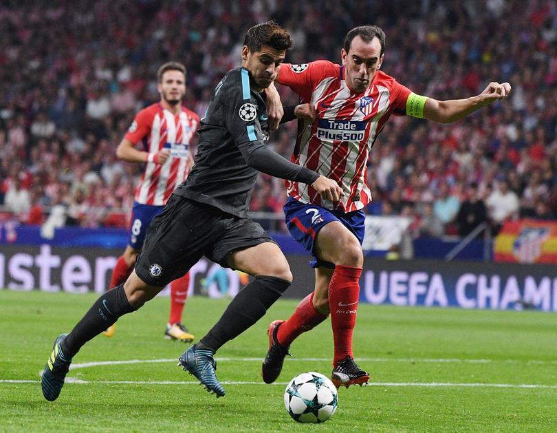 Morata (Chelsea) Diego Godín (Atletico de Madrid).