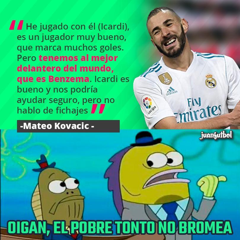 Kovacic cree que Benzema es el mejor delantero