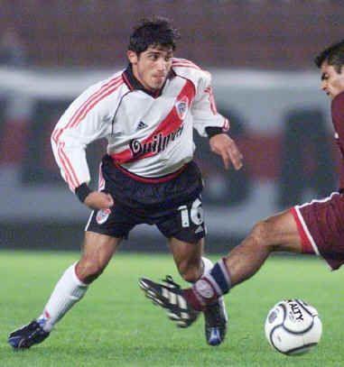 Álvarez con la casaca de River Plate
