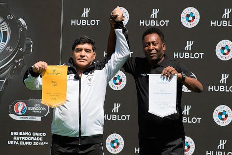 Diego Maradona y Pelé