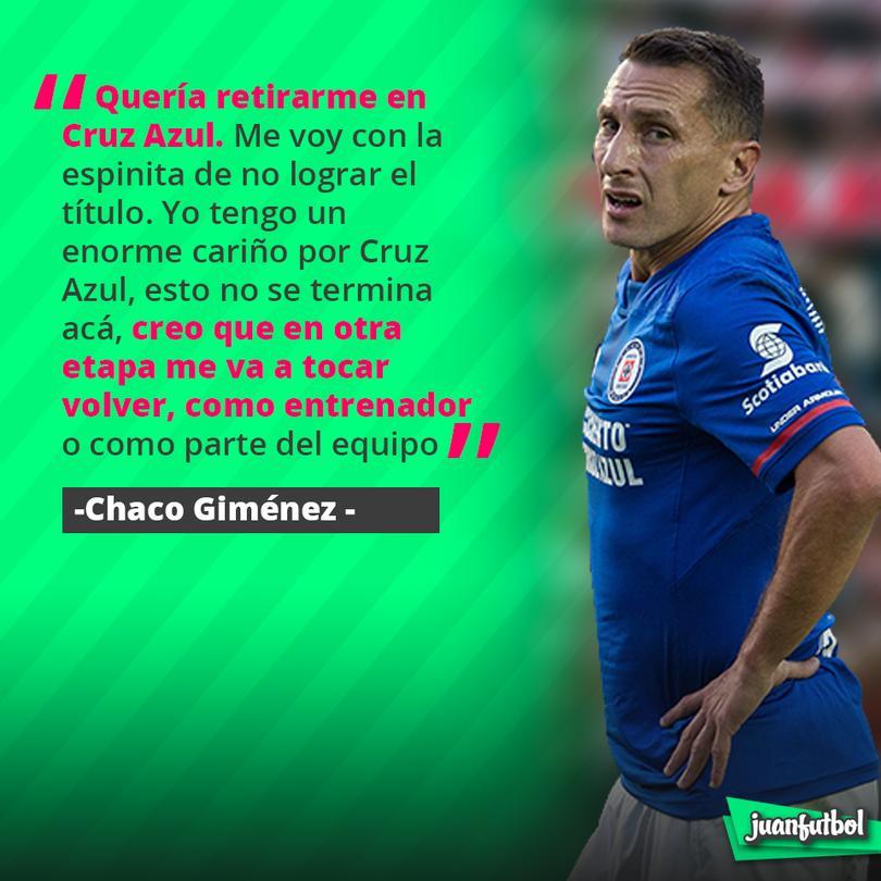 Chaco Giménez quiere volver a Cruz Azul