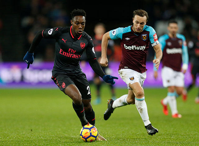 West Ham contra el Arsenal.