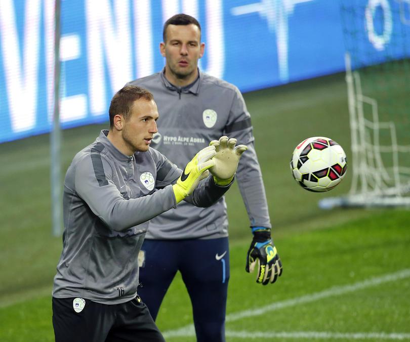 Oblak y Handanovic en la selección eslovena