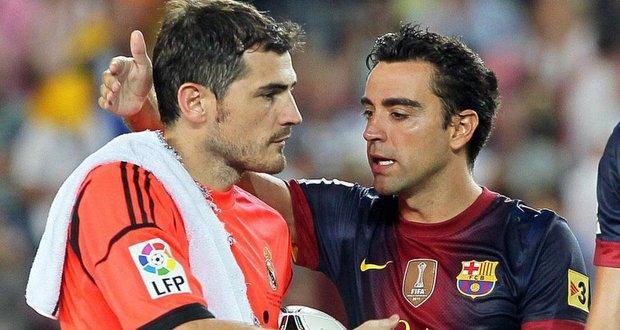 Iker Casillas y Xavi