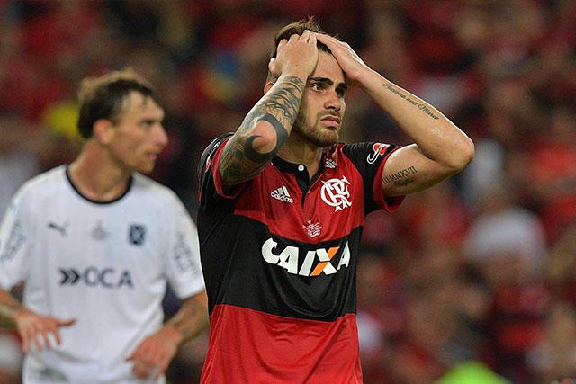 Felipe Vizeu de Flamengo, durante la final de la Sudamericana.