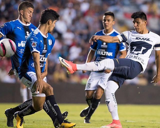 Querétaro vs Pumas, durante el Apertura 2017.