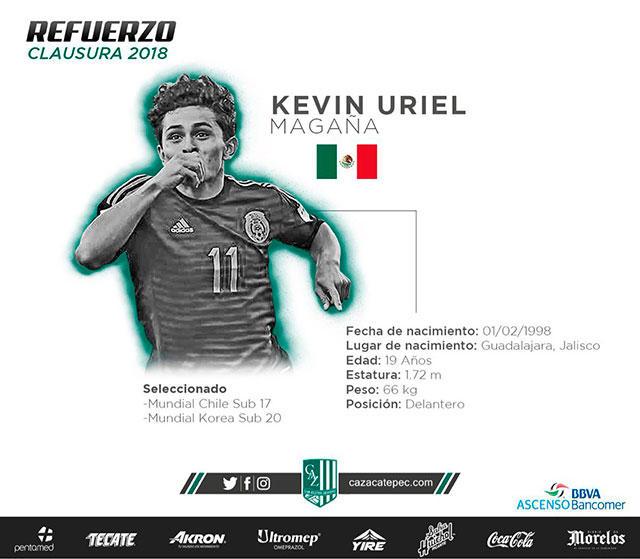 Kevin Magaña es nuevo refuerzo de Zacatepec.