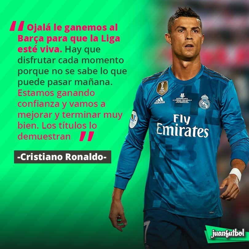 Cristiano quiere ganarle al Barça