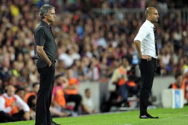 """José Mourinho y """"Pep"""" Guardiola."""