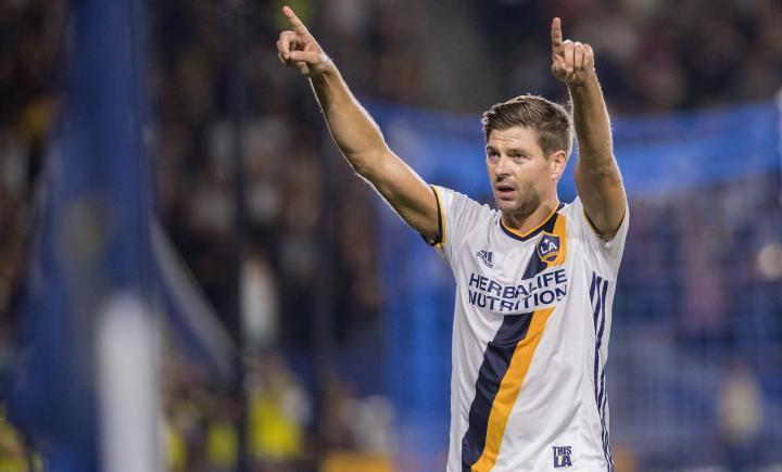 Gerrard jugando para LA Galaxy