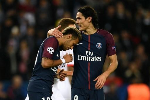 Neymar y Cavani en un partido