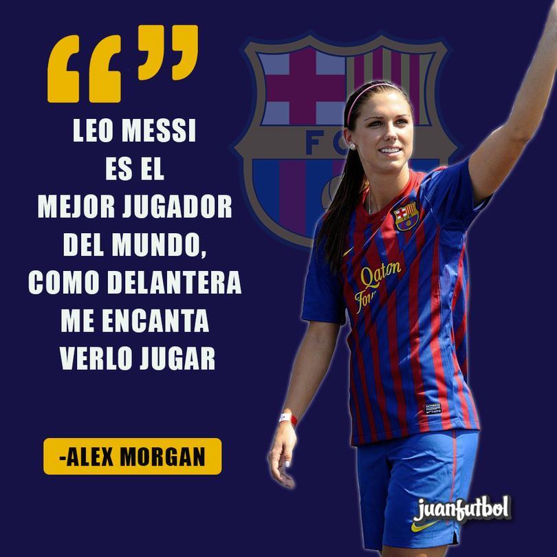 Alex Morgan dice que Messi es el mejor del mundo