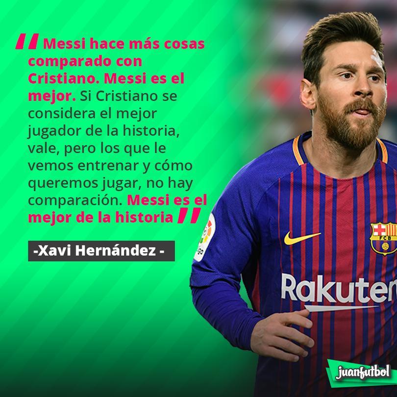 Xavi lo tiene claro, Messi es el mejor