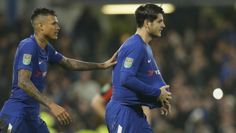 Alvaro Morata festeja gol