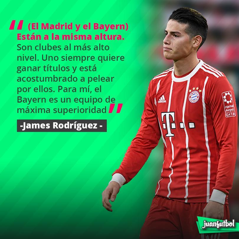 James Rodríguez habló sobre el Real Madrid y el Bayern Munich