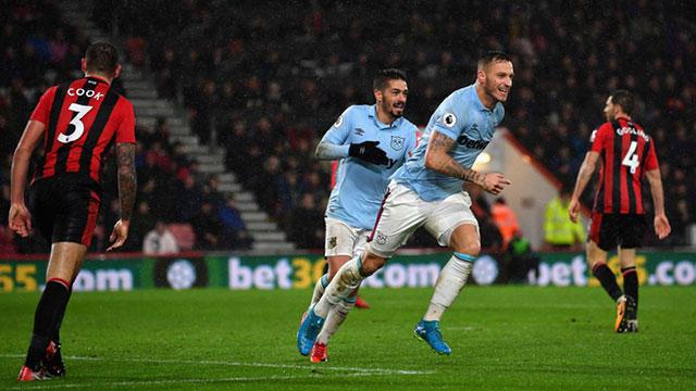 Marko Arnautovic celebra el gol