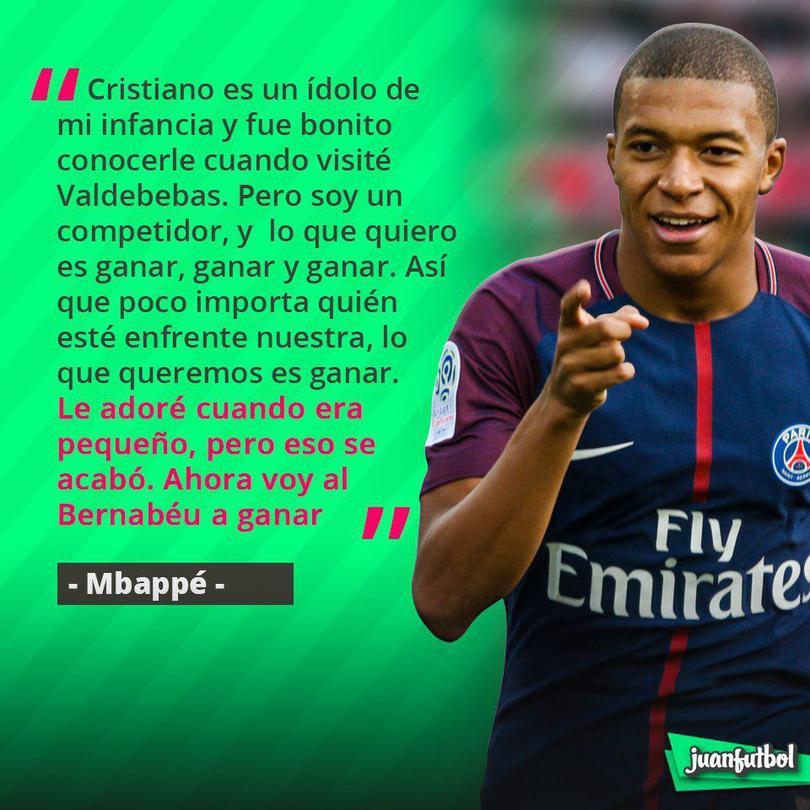 Mbappé ya no admira a Cristiano