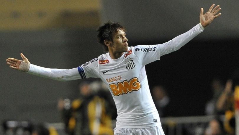Neymar Jr con Santos