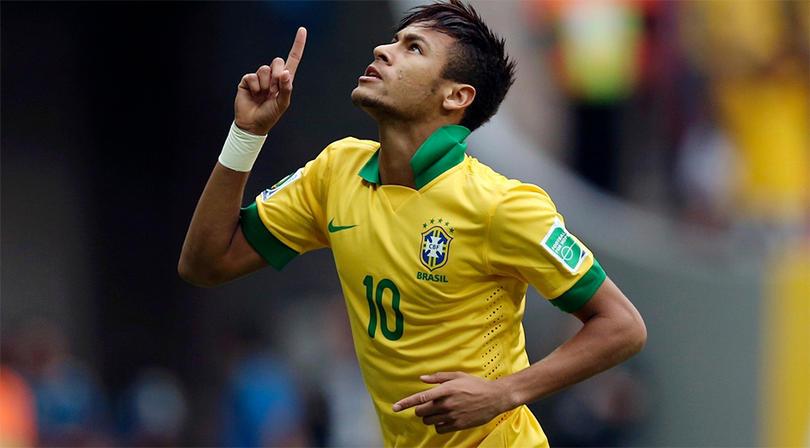 Neymar Jr con la Selección Nacional de Brasil