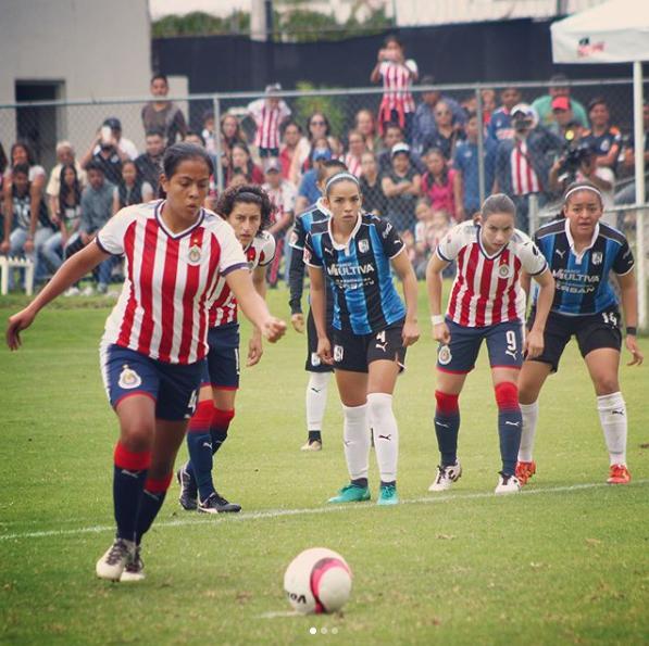 Chivas en el triunfo contra el Querétaro