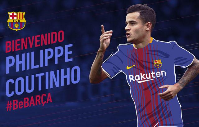 Philippe Coutinho nuevo jugador del Barcelona
