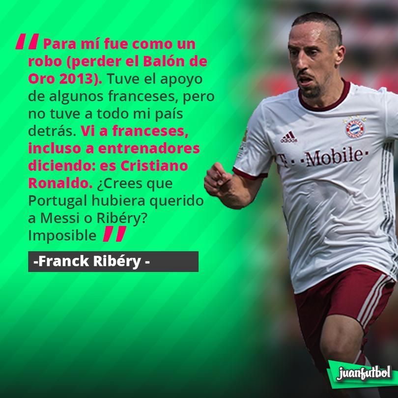 Ribéry dice que Cristiano le robó su Balón de Oro