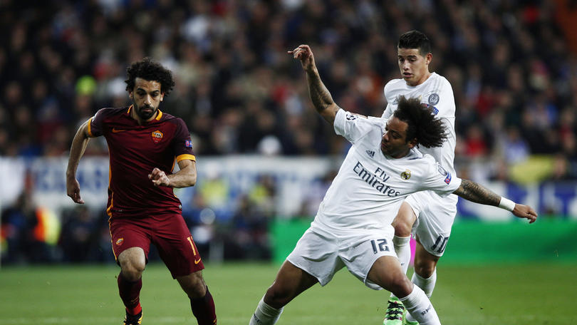 Mohamed Salah contra Real Madrid