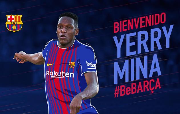 Yerry Mina es nuevo jugador del Barcelona