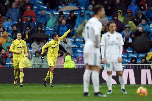 Fornals celebra en el fondo su gol contra el Real Madrid