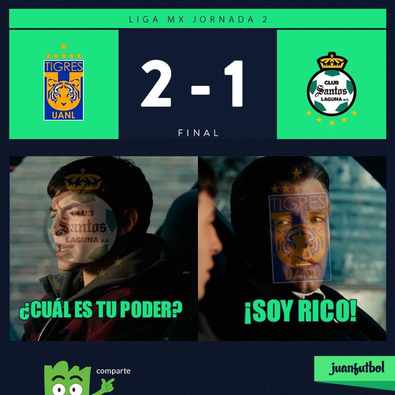 Tigres por fin le pudo ganar a Santos