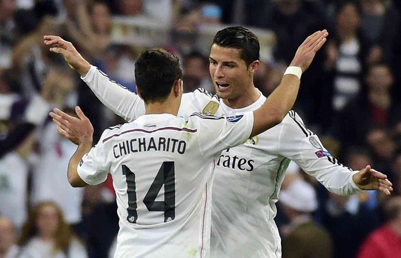 Chicharito y Cristiano Ronaldo