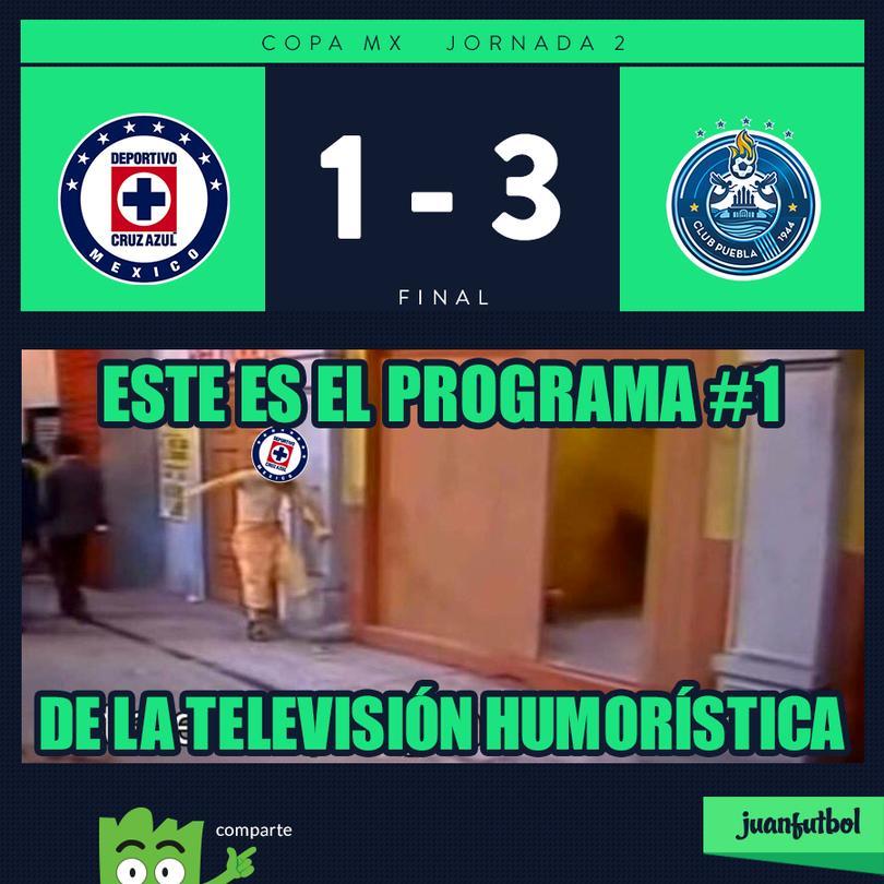 Cruz Azul perdió 3-1 con Puebla en Copa
