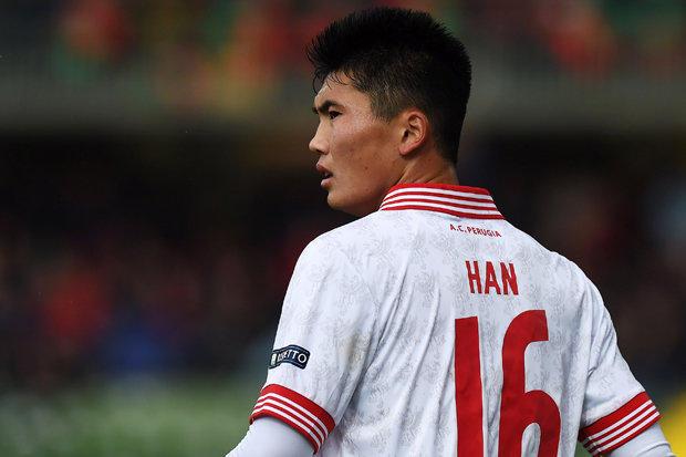 Han Kwang-song actualmente juega en el Perugia