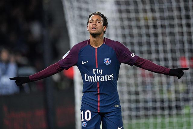Neymar celebra un gol frente al Dijon