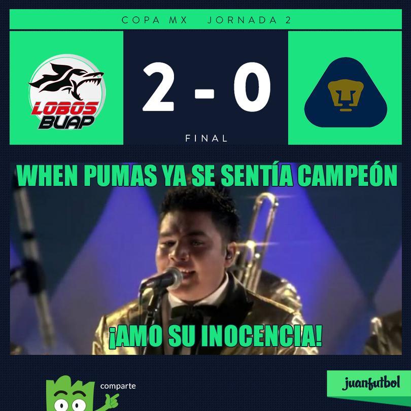 Pumas perdió el invicto con Lobos