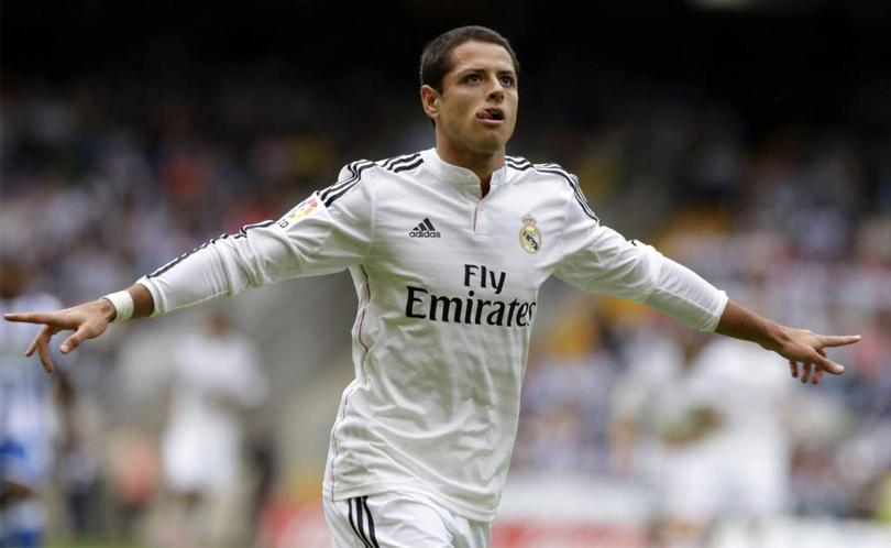 Javier Hernández en su etapa con el Real Madrid