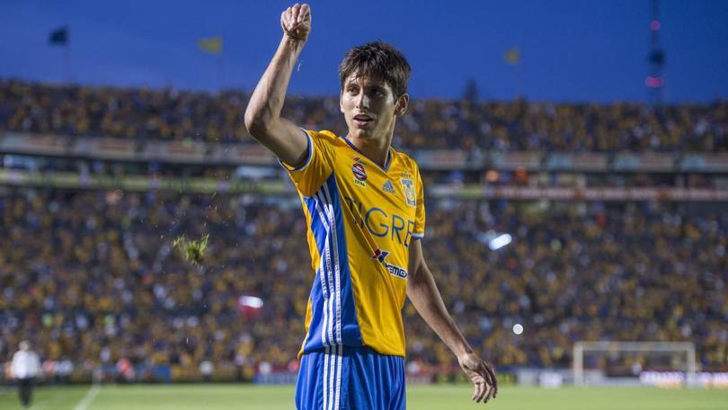 Jurgen celebrando gol con Tigres